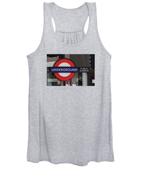 Underground Sign London Women's Tank Top