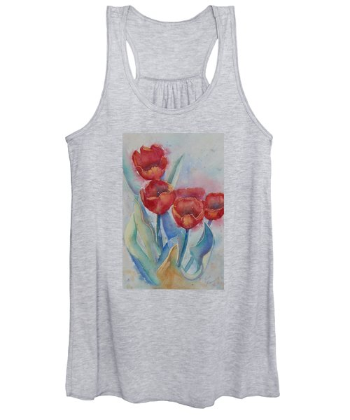 Undersea Tulips Women's Tank Top