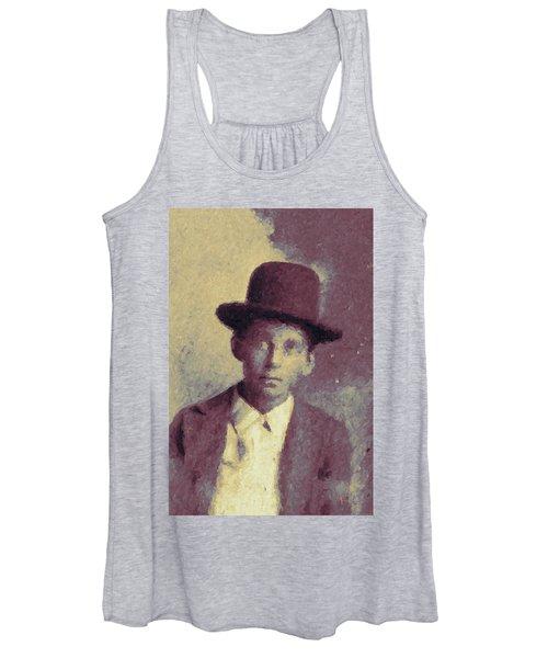 Unknown Boy In A Bowler Hat Women's Tank Top