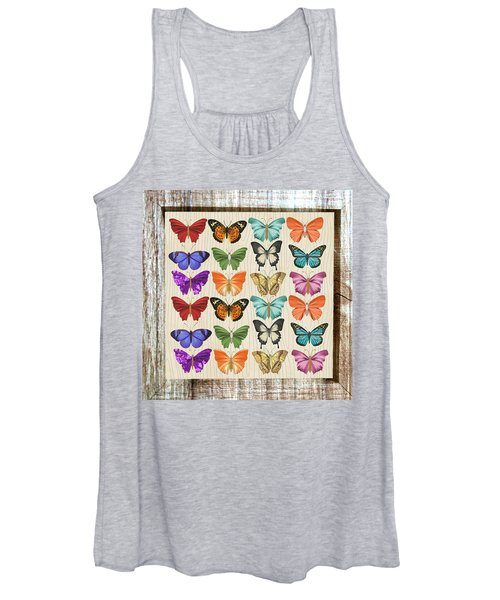 Colourful Butterflies Collage Women's Tank Top