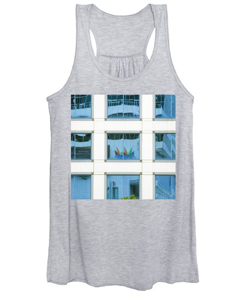 Women's Tank Top featuring the photograph Urban Squares by Marla Craven