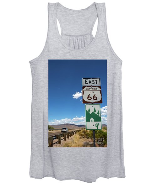 Us Route 66 Sign Arizona Women's Tank Top