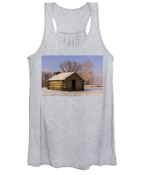 Valley Forge Cabin At Sunset Women's Tank Top