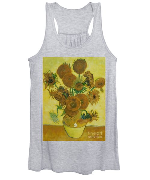 Vase Withfifteen Sunflowers Women's Tank Top