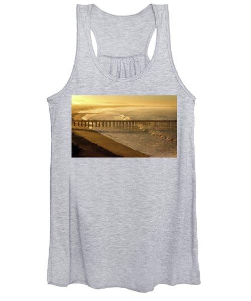 Ventura, Ca Pier At Sunrise Women's Tank Top