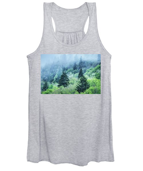 Verdant Forest In The Great Smoky Mountains Women's Tank Top