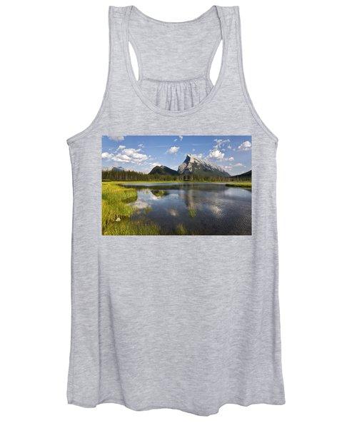 Vermillion Lake And Sulpher Mountain Women's Tank Top