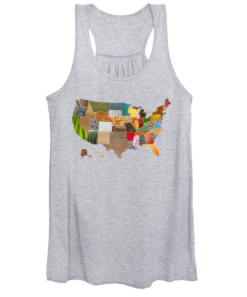 Vibrant Textures Of The United States Women's Tank Top