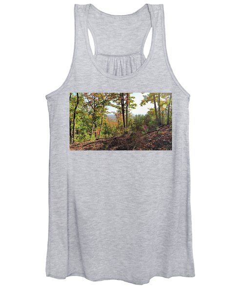 View From The Top Of Brown's Mountain Trail, Kings Mountain Stat Women's Tank Top