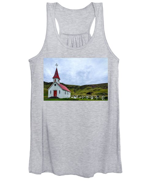 Vik Church And Cemetery - Iceland Women's Tank Top