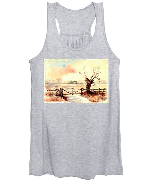 Village Scene IIi Women's Tank Top