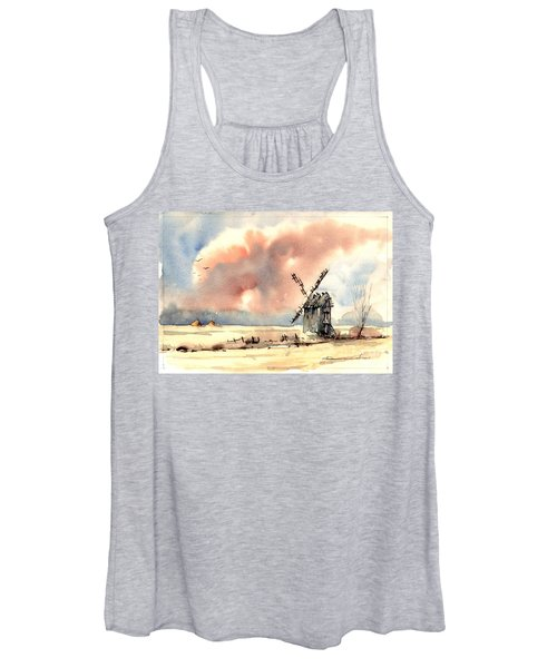 Village Scene Vi Women's Tank Top