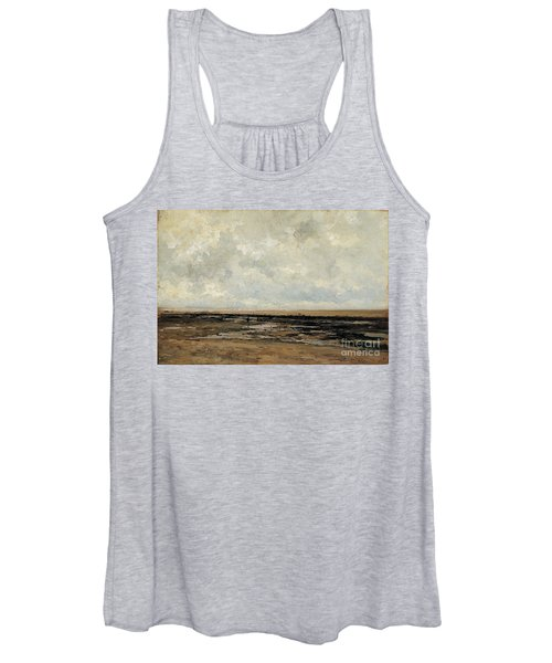 Villerville Beach In Normandy Women's Tank Top