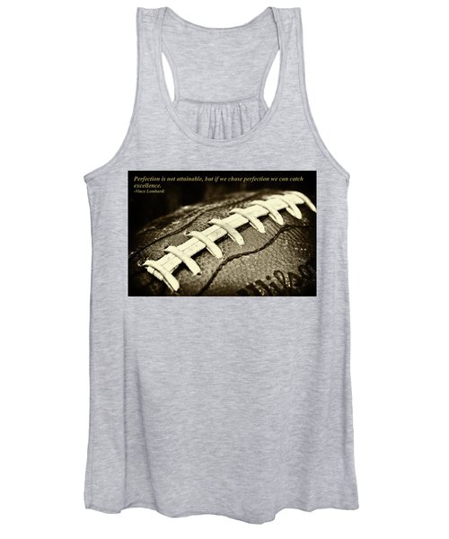 Vince Lombardi Perfection Quote Women's Tank Top