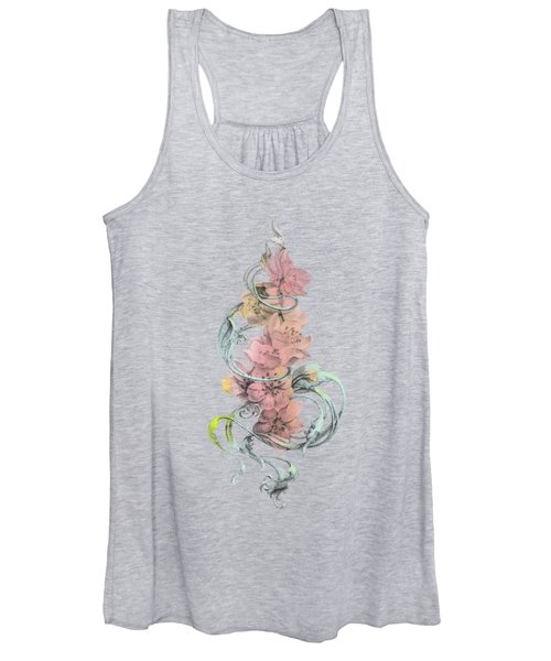 Vintage Cherry Without Background Women's Tank Top