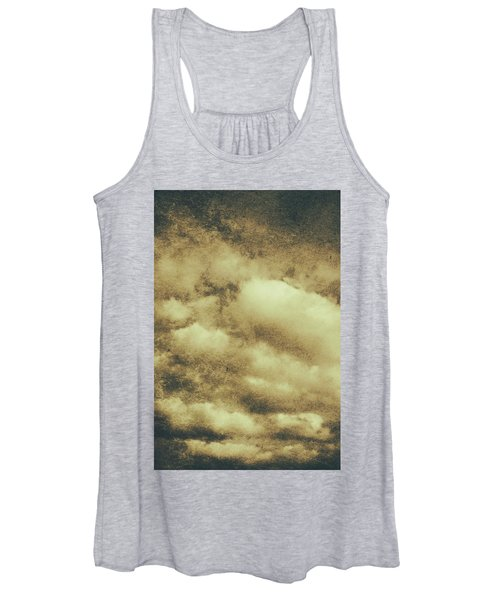 Vintage Cloudy Sky. Old Day Background Women's Tank Top