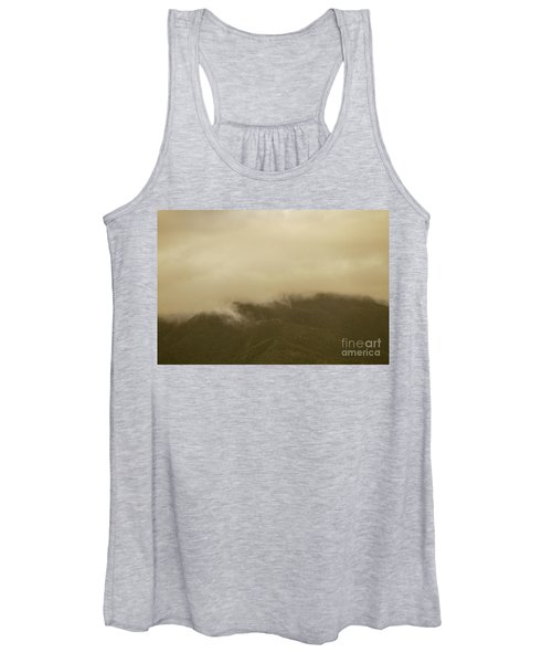 Vintage Mountains Covered By Cloud Women's Tank Top
