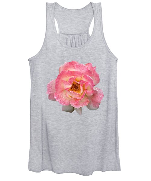 Vintage Rose Square Women's Tank Top