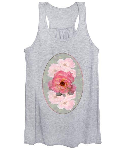 Vintage Rose Vertical Women's Tank Top