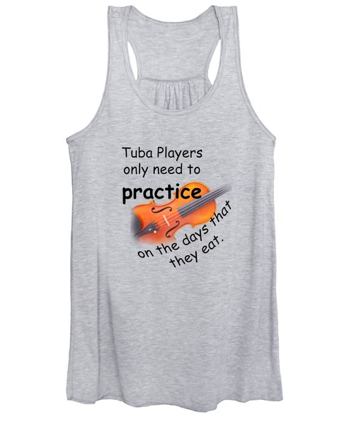 Violin Viola Practice When You Eat For T Shirts  Or Posters 4832.02 Women's Tank Top