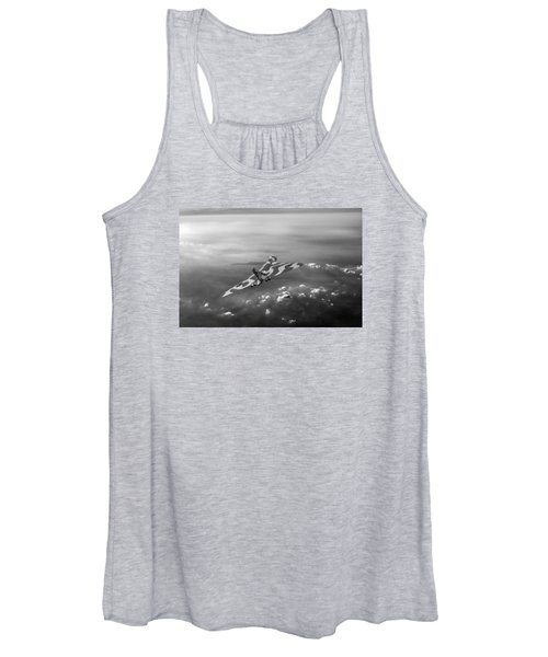 Vulcan Over The Channel Black And White Version Women's Tank Top