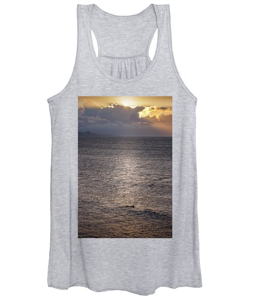 Waiting For The Last Wave Of The Day Women's Tank Top
