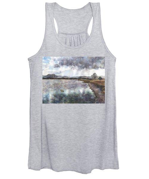 Walden Ponds On An April Evening Women's Tank Top