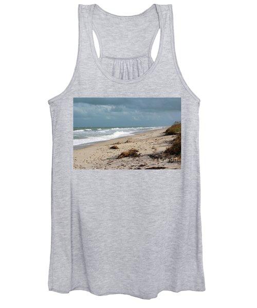 Walks On The Beach Women's Tank Top