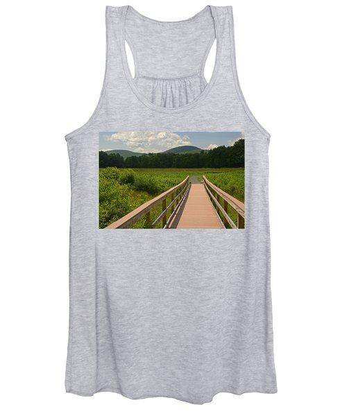 Walkway To A Mountain Color Women's Tank Top