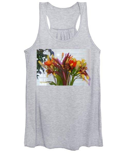 Warm Colored Flowers Women's Tank Top