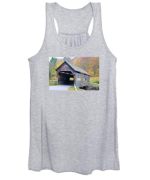 Warren Covered Bridge In Vermont Women's Tank Top