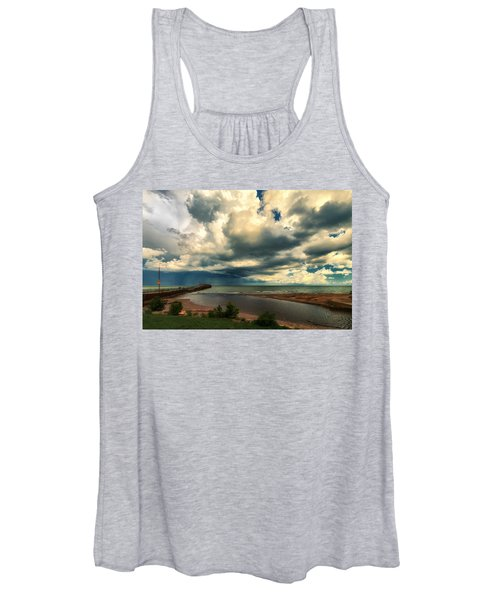 Watching The Storm On Lake Erie Women's Tank Top
