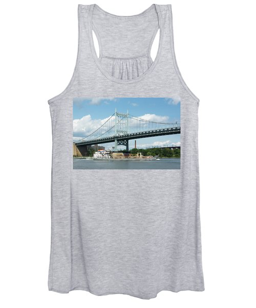 Water And Ship Under The Bridge Women's Tank Top