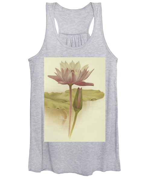 Water Lily  Nymphaea Zanzibarensis Women's Tank Top
