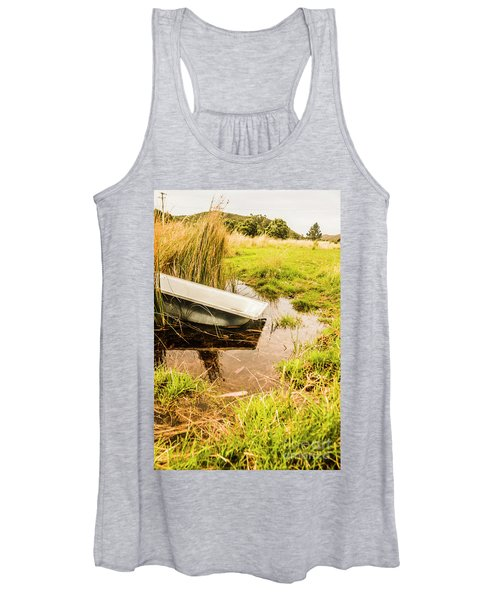 Water Troughs And Outback Farmland Women's Tank Top