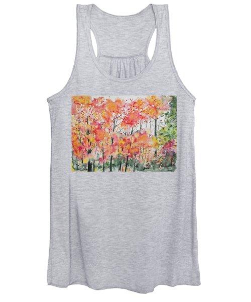 Watercolor - Autumn Forest Women's Tank Top