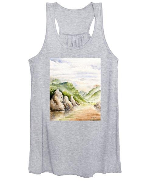 Watercolor Landscape Plein Air Women's Tank Top