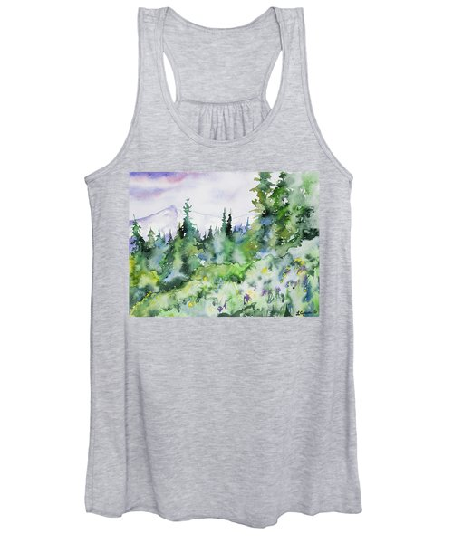 Watercolor - Summer In The Rockies Women's Tank Top