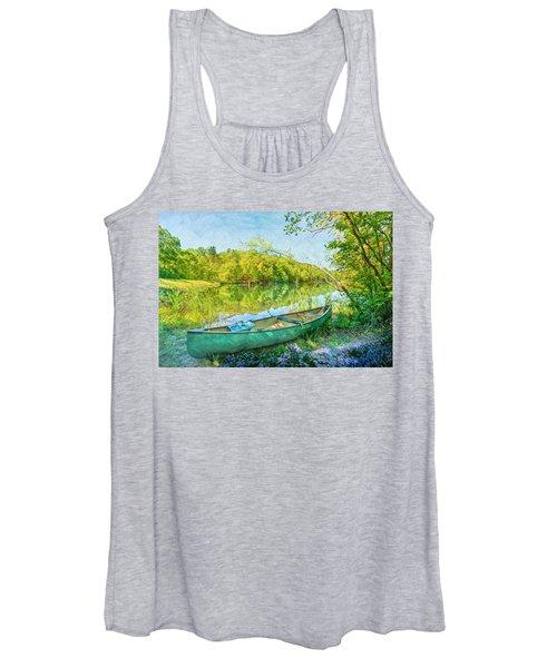 Watercolors At The Lake Women's Tank Top