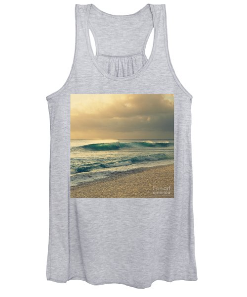 Waves Of Light - Hipster Photo Square Women's Tank Top