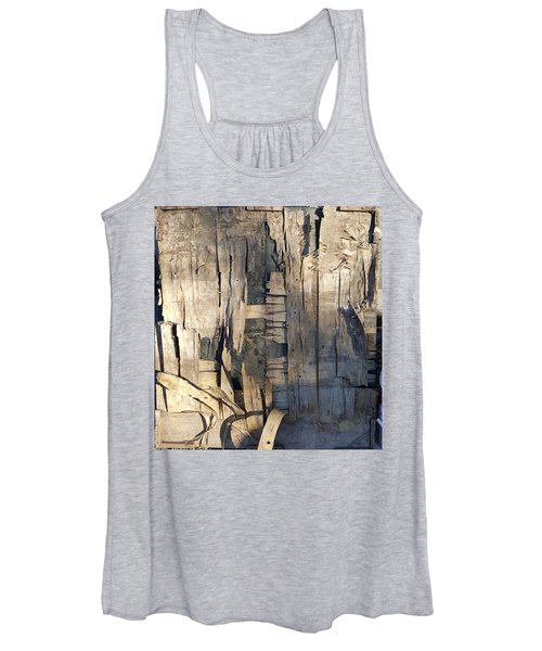 Weathered Plywood Composition Women's Tank Top