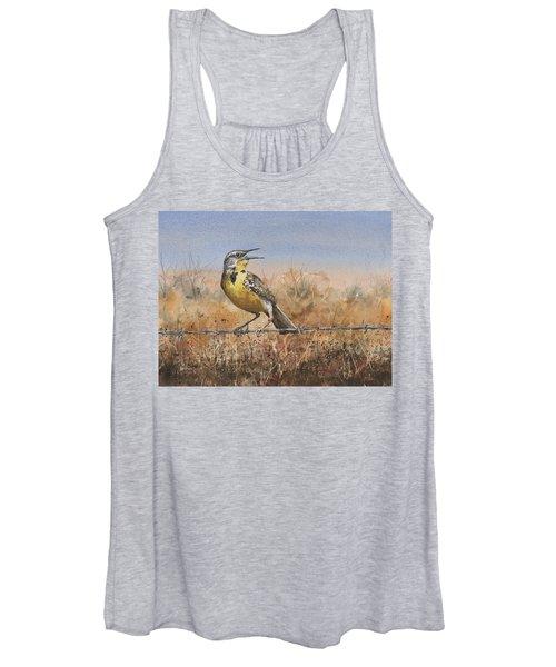 Western Meadowlark Women's Tank Top