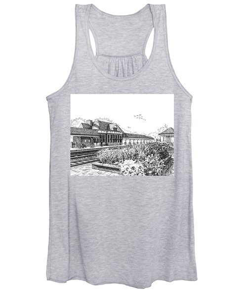 Western Springs Train Station Women's Tank Top