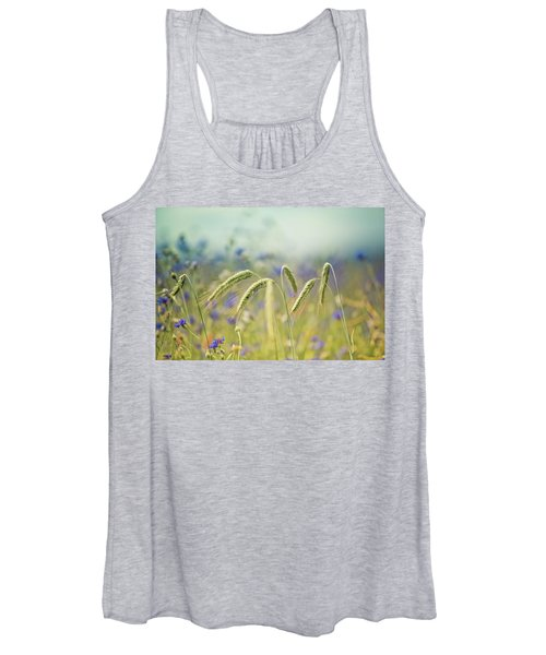 Wheat And Corn Flowers Women's Tank Top