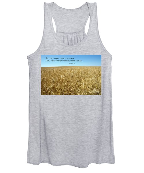 Wheat Field Harvest Season Women's Tank Top