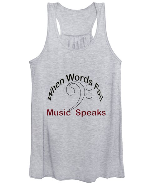 When Words Fail Music Speaks Bass Women's Tank Top