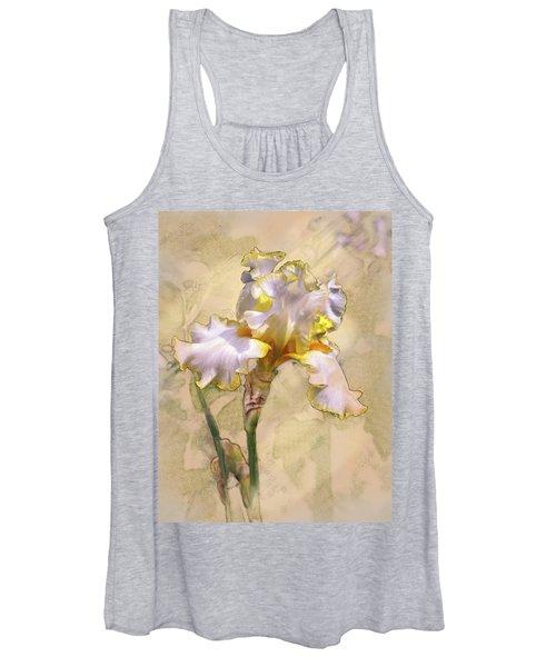 White And Yellow Iris Women's Tank Top