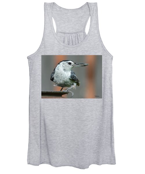 White-breasted Nuthatch With Sunflower Seed Women's Tank Top