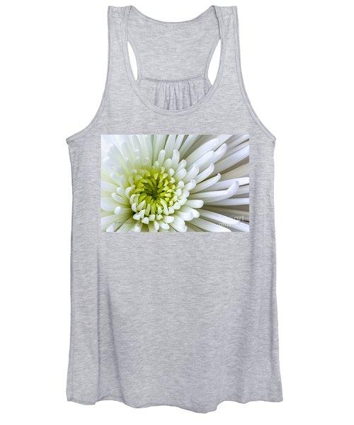 White Chrysanthemum Women's Tank Top