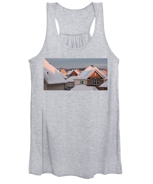 White December Rooftops Women's Tank Top
